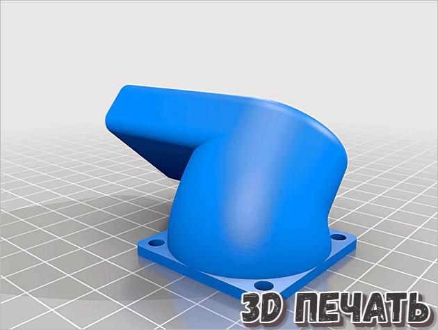 Дефлектор глушителя вентилятора Hotend 40 мм