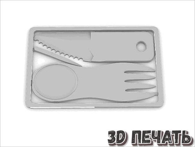 Нож и вилка под кредитную карту