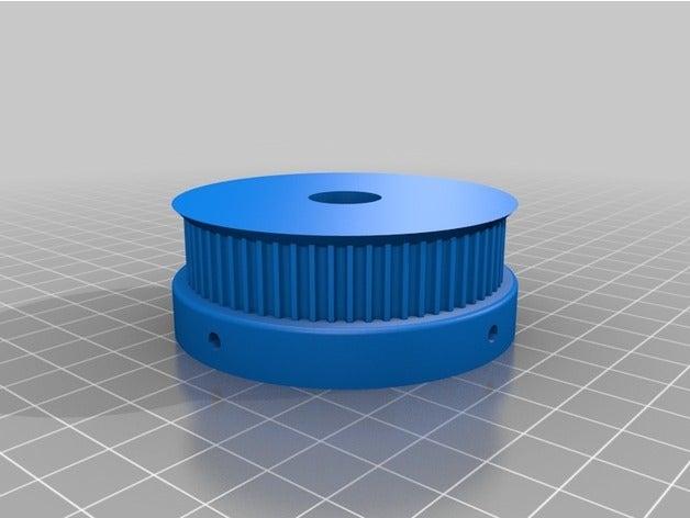 Индивидуальный параметрический шкив в 3D
