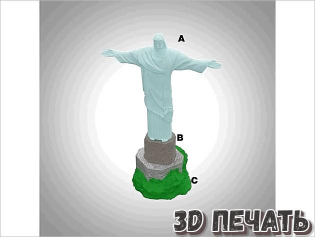 Бразильская модель статуи Иисуса Христа