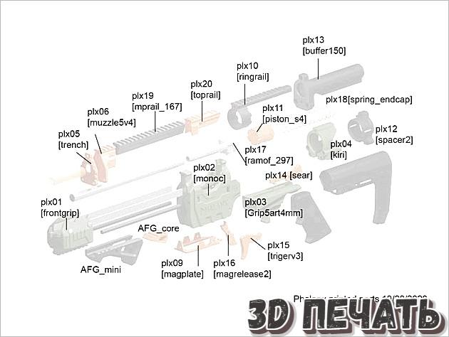 Полноразмерный бластер для дротиков