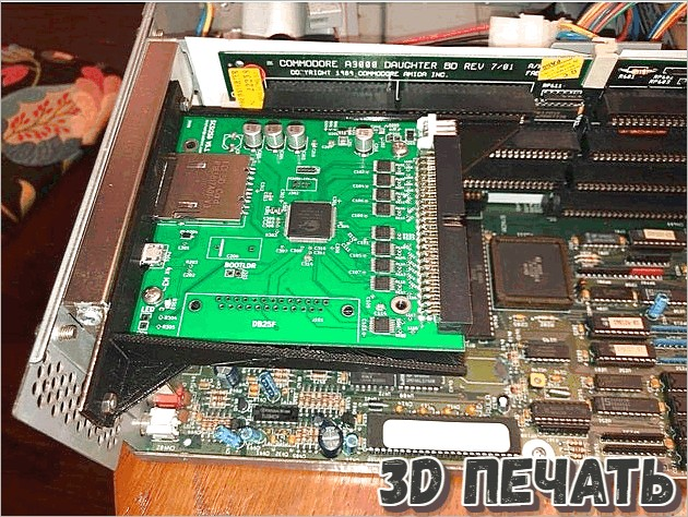 Кронштейн слота для карты Commodore Amiga 3000 SCSI2SD
