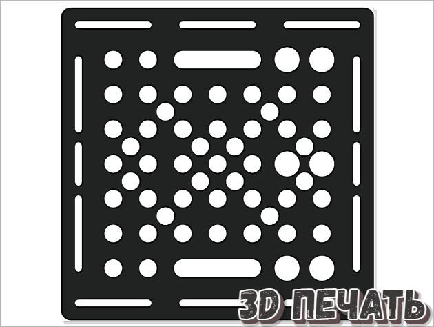 Универсальная тарелка 90 * 90 * 5 мм