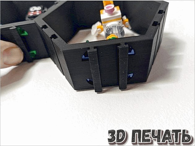 Шестигранный дисплей Mario Minifigs (с настенными креплениями)