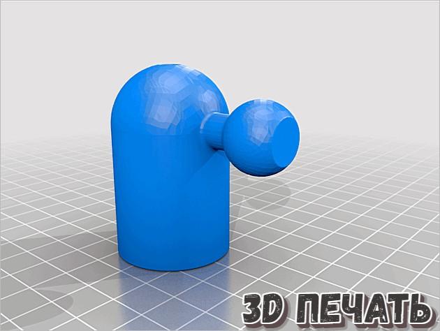3D модель гнезда для лампы