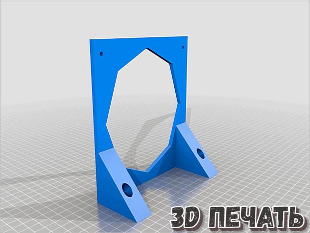 Крепление радиатора 140 мм 280 мм в 3D