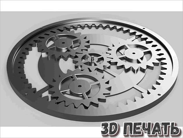 Планетарная передача в 3D