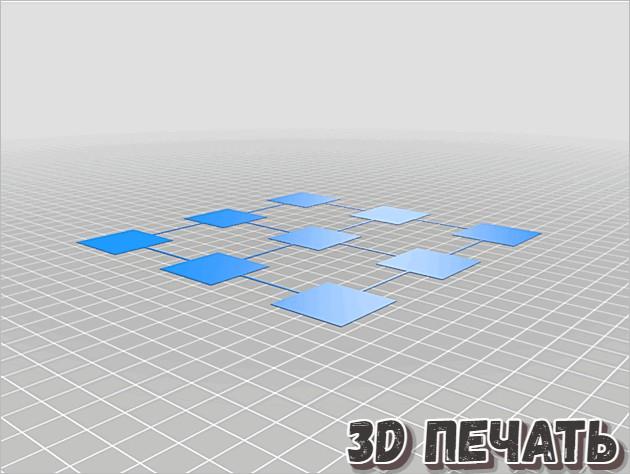 Калибровочные квадраты для стола принтера