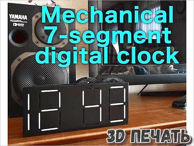 Механические 7-сегментные цифровые часы