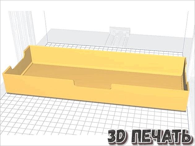 3D модель штабелируемой коробки