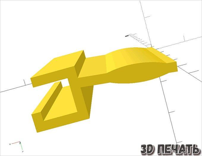 Ручка жалюзи в 3D