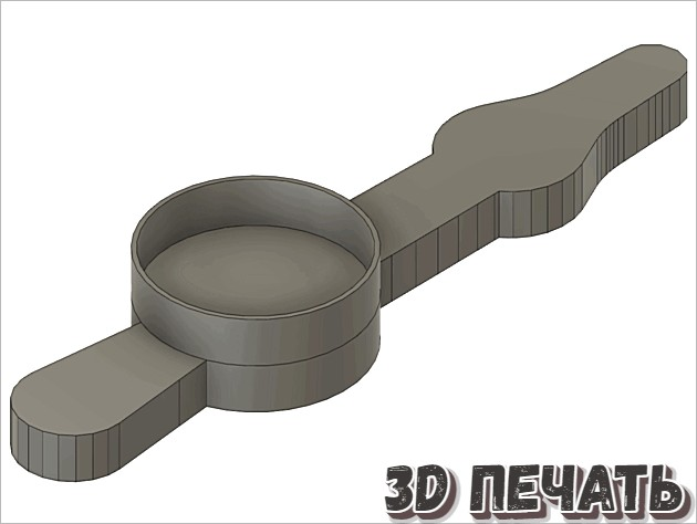 Часовая стрелка экструдера NEMA-17 [Scale Remix]