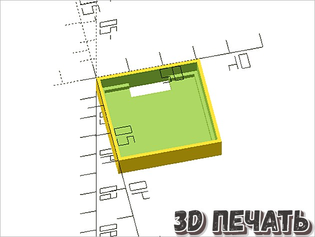 Коробка для OLED-экрана MakerHawk
