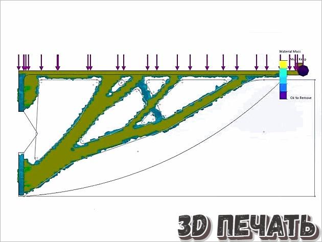 Настенная полка в 3D