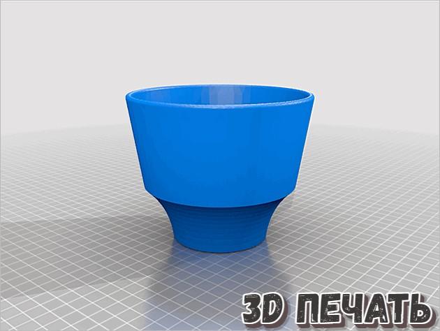 3D модели горшков для растений разных размеров