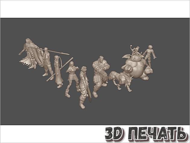 Настольные миниатюры Final Fantasy VII 32 мм / 28 мм