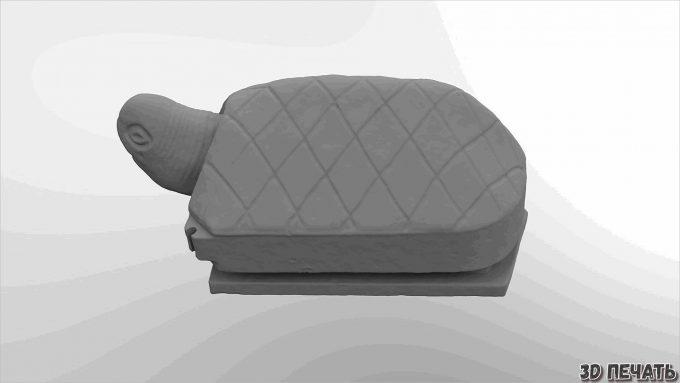 Катушка для наушников с черепахой