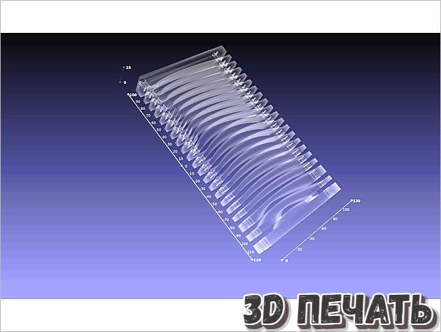 Пресс-форма для ламинированных ребер