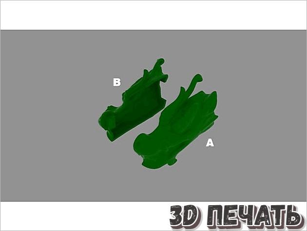 Колпачок для зубной щетки с изображением головы дракона