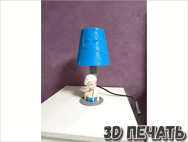 Цоколь лампы с девушкой