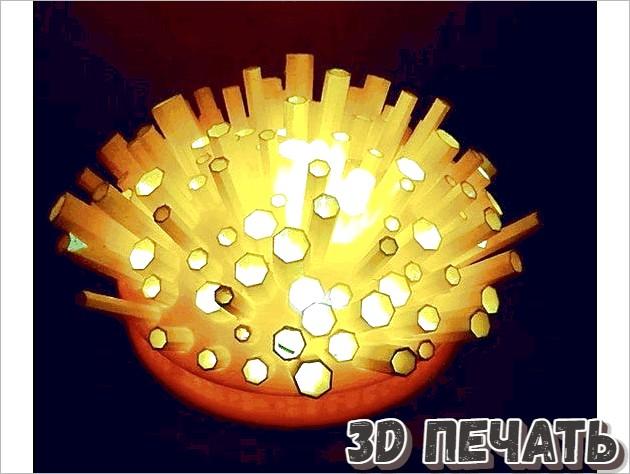 Лампа в виде трубок