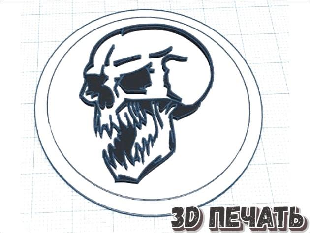 Вставка с модульным логотипом Skull