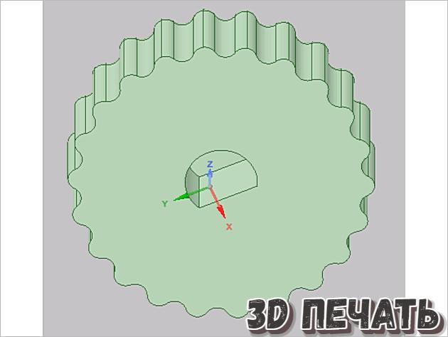 Ручка ЖК-дисплея для Kossel Mini (для хвостовика 6 мм D)