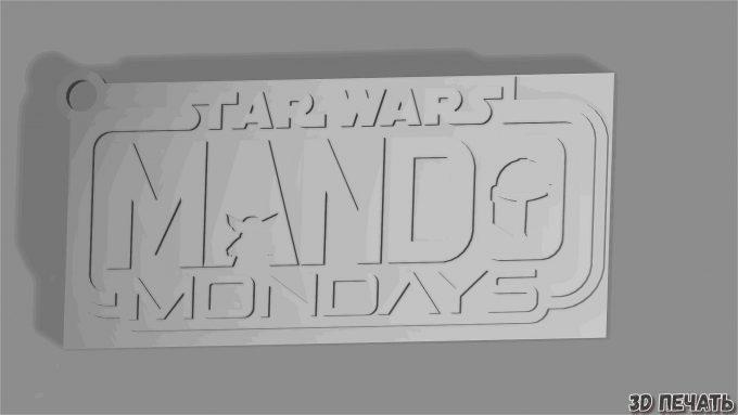Брелок Mando Mondays