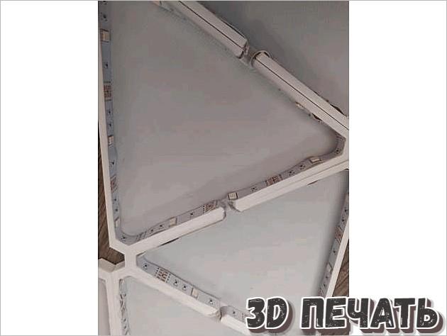 Светодиодная панель в стиле Nanoleaf
